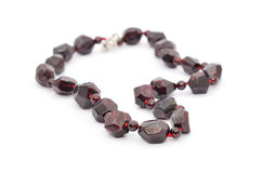 Garnet Necklace Stock Images