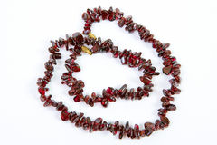 Garnet necklaces Royalty Free Stock Images