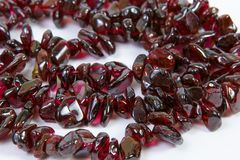 Garnet necklaces Stock Photos