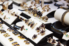 garnet odpierająca biżuteria Fotografia Stock