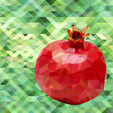 Garnet poligon vector. Red garnet on a green background poligon vector Royalty Free Stock Photos
