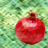 Garnet poligon vector Royalty Free Stock Photos