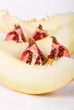 garnet rżnięty melon Zdjęcie Royalty Free