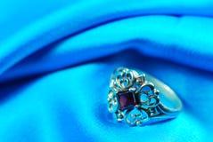 Garnet ring Stock Image