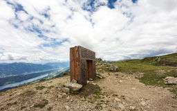 Garnet's Gate On Top Of Alp Millstatt Valley View Stock Photography