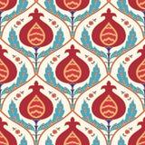 Garnet tile pattern. Garnet traditional oriental motif tile seamless pattern vector illustration