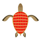 Garnet turtle. Shell Aquatic Turtle with precious stones. Royalty Free Stock Photo
