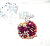 Garnet in the water Stock Photo