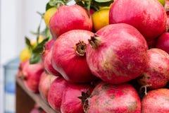 Garnets. Arabic red garnets, fruit, fresh juice Stock Image