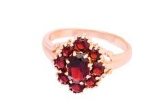garnets pierścionek Obrazy Royalty Free