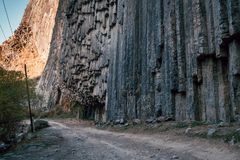 Garni峡谷 的臂章 免版税图库摄影