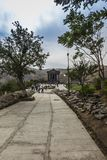 Garni,亚美尼亚- 2017年9月16日:Garni异教的寺庙, tem 库存图片