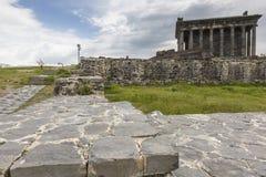 Garni,亚美尼亚- 5月02,2016 :古老Garni异教的寺庙, h 库存图片