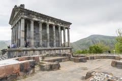 Garni,亚美尼亚- 5月02,2016 :古老Garni异教的寺庙, h 免版税库存图片