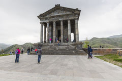 Garni,亚美尼亚- 5月02,2016 :古老Garni异教的寺庙, h 免版税图库摄影