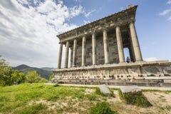 Garni,亚美尼亚- 5月02,2016 :古老Garni异教的寺庙, h 免版税库存照片