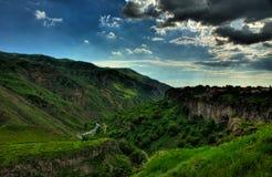 Garni, Armenia. Great canyon in Armenia, near the Garni temple Stock Photo