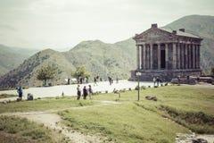 Garni ARMENIA, Maj, - 02,2016: Antyczna Garni pogańska świątynia h Zdjęcia Royalty Free