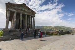 Garni ARMENIA, Maj, - 02,2016: Antyczna Garni pogańska świątynia h Fotografia Stock