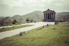 Garni, ARMENIA - May 02,2016 : Ancient Garni pagan Temple, the h Stock Photography