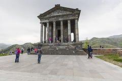 Garni, ARMENIA - mayo 02,2016: Templo pagano antiguo de Garni, el h Fotografía de archivo libre de regalías