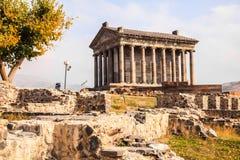 Garni hednisk tempel i Armenien Fotografering för Bildbyråer