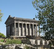 Garni pagan temple Royalty Free Stock Photos
