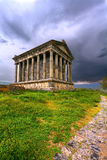 Garni pagan Temple among the green vegetation (Armenia) Stock Photography