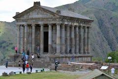 Garni tempel i sommar Arkivbilder