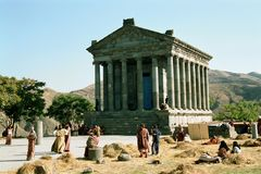 Garni Temple in Armenia Royalty Free Stock Photos
