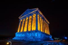 Garni Temple Armenia. Garni temple in Armenia at night Stock Photos