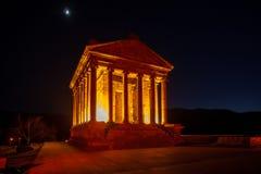 Garni Temple Armenia. Garni temple in Armenia at night Royalty Free Stock Photo