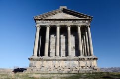 Garni temple,dedicated to sun god Mithra,Armenia. Garni temple,dedicated to sun god Mithra - classical Hellenistic building , one of main tourist attractions in royalty free stock images