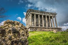 The Garni Temple an example ancient Greek and Roman architecture, located in Kotayk Province, Armenia. Stock Image