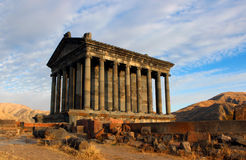 Garni Temple. The photo of Garni temple, former pagan Roman temple in Armenia Stock Image