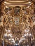 Garnier palace. Is the most beautiful opera in Europe stock photography