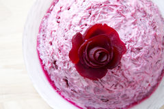 Garnish of beets with fish Stock Image