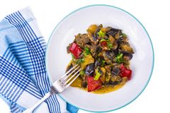 Garnish of different vegetables Stock Image