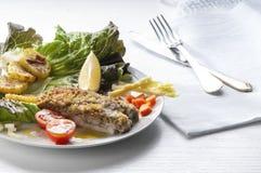 Garnish fish fillet Stock Images