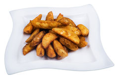 Garnish of French Fries. Young potato fried by slices Royalty Free Stock Images