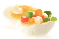 Garnish hard-boiled egg Royalty Free Stock Images