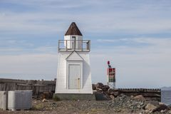 Garnish Lighthouse, Newfoundland. Newfoundland and Labrador, Canada stock photography