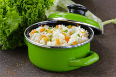 Garnish rice with various vegetables Stock Images