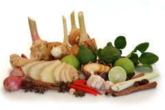 Garnish vegetables groups Stock Image