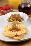 Garnished belgian waffles Stock Photography