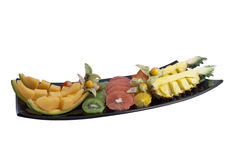 Dish with fruits Stock Images