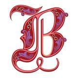 Garnished Gothic style font, letter B Royalty Free Stock Image