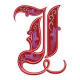 Garnished Gothic style font, letter I Royalty Free Stock Image