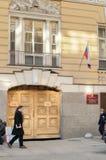 Garnisonmilitärdomstol av St Petersburg arkivfoton