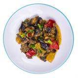 Garnissez des différents légumes image stock
